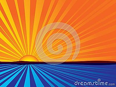 Abstract sunrise