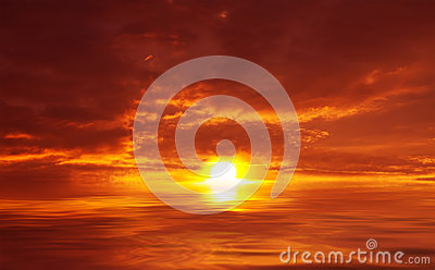 Abstract Sunset at Sea