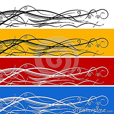 Abstract Swirl Arrow Banner Set