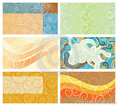 Abstract swirl background business cards