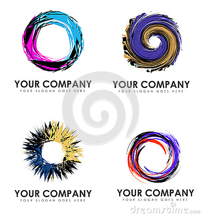 Abstract Swirl Business Logos