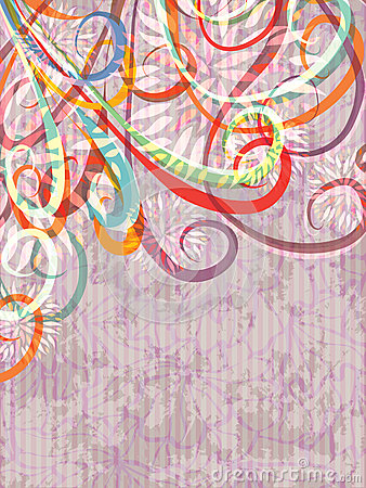 Abstract Swirl Flowers_eps