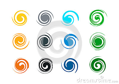 Abstract swirl grunge logo, and splash wave, wind, water, flame, symbol icon template Vector Illustration