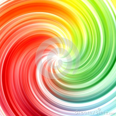 Abstract swirl rainbow colors background