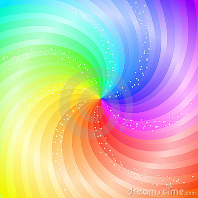 Rainbow Background on Illustration  Abstract Swirling Rainbow Background  Image  14049670