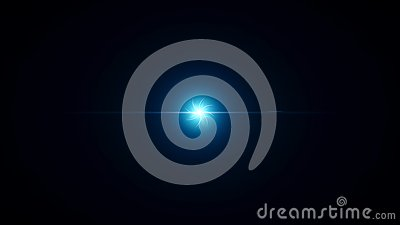 Abstract swirling spiral of stars with bright light in center. Animation of psychedelic spiral with glow in center on Stock Photo