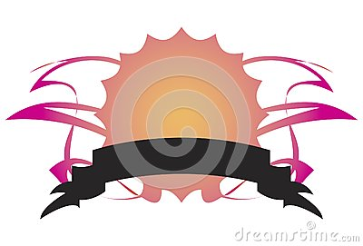 Abstract Symbol with Banner