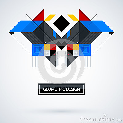 Free Abstract Symmetric Design Made Of Geometric Shapes Royalty Free Stock Image - 86101136
