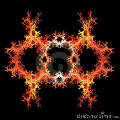 Abstract  symmetrical fractal backgro