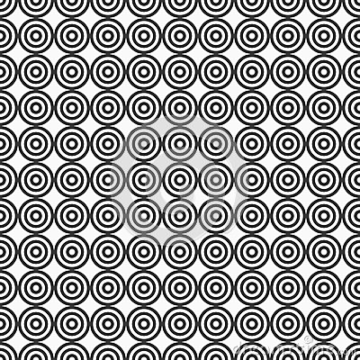 Abstract target seamless pattern. Vector Illustration