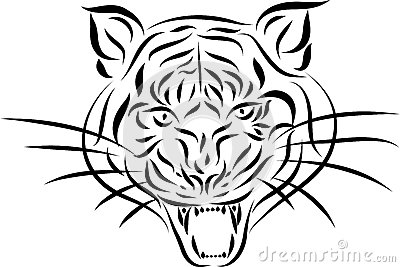 Abstract Tattoo Tiger, Vector Stock Images - Image: 26475234
