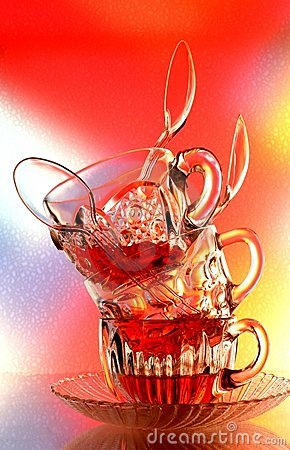 Abstract Teacup Design Background