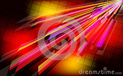Abstract techno  background  with light effect.