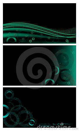 Abstract techno backgrounds set