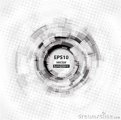 Free Abstract Techno Circle Background. Eps 10. Stock Photos - 21036383