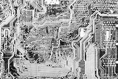 Abstract technological circuit background