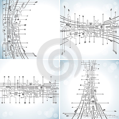 Free Abstract Technology Background Stock Image - 25956841