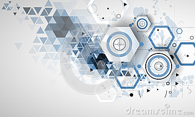Abstract technology background Business & development direction Vector Illustration