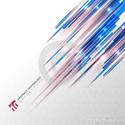 Free Abstract Technology Blue And Red Color Oblique Lines With Lazer Stock Image - 115862801