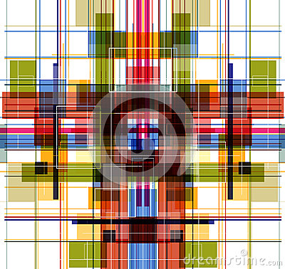 Abstract technology color fly fractal
