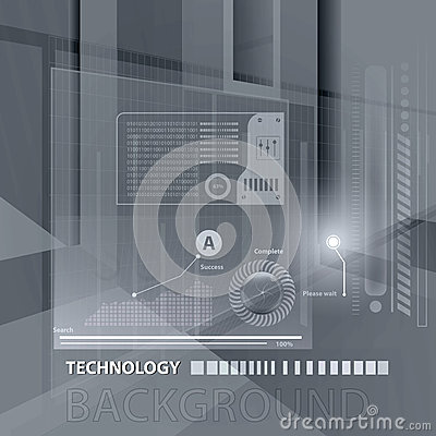 Abstract technology contour objects.Financial business presentat Vector Illustration