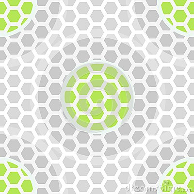 Abstract technology green seamless pattern