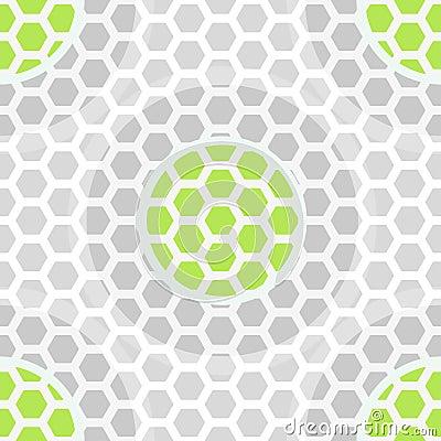 Abstract technology green seamless pattern