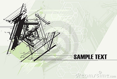 Abstract Technology Grunge Background