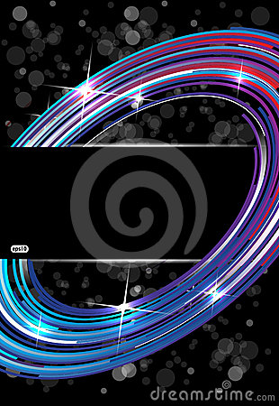 Abstract technology tree on dark vector background
