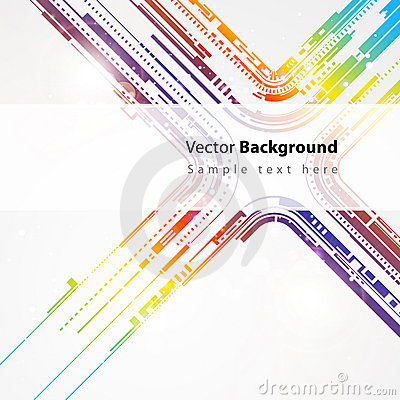 Abstract technology vector line background