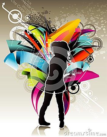 Abstract teen illustration