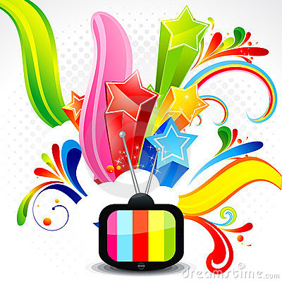 Abstract Television With Explode Star Stock Photos - Image: 23824473