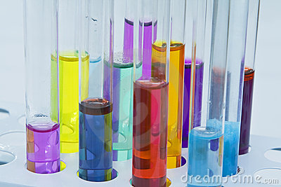 Abstract test tubes