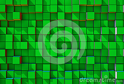 Abstract  three-dimensional cubes  background
