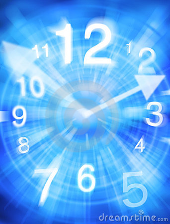 Abstract Time Clock Background