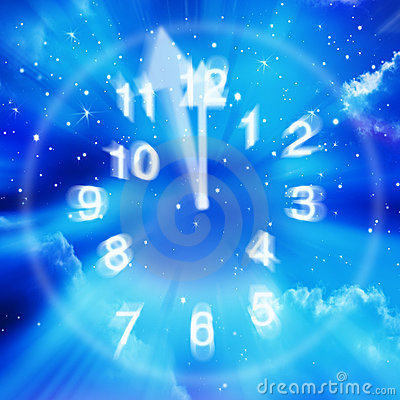 Abstract Time Clock Sky Stars