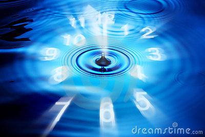 Abstract Time Clock Water