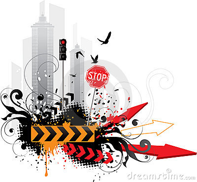 Abstract traffic background