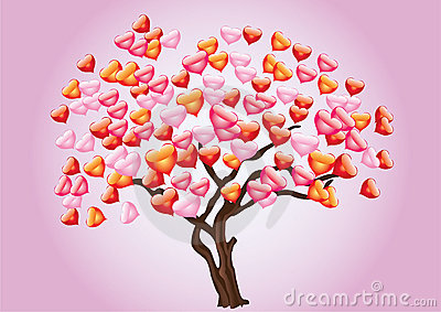 Abstract tree with heart