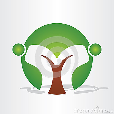 Abstract tree people design