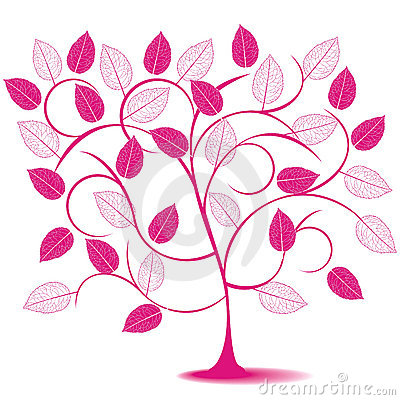 Abstract tree in pink