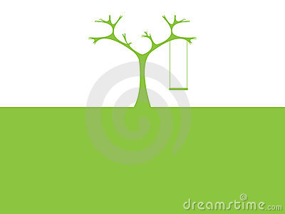 Abstract tree and swing
