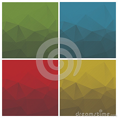 Abstract triangle backgrounds with stripes