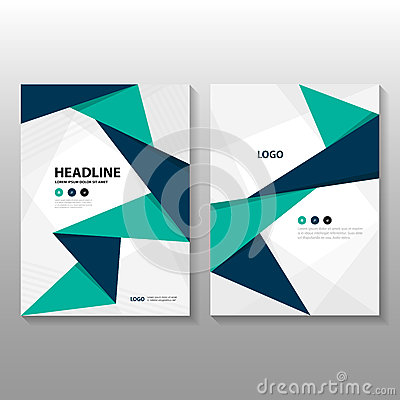 Free Abstract Triangle Blue Green Purple Polygon Annual Report Leaflet Brochure Flyer Template Design, Book Cover Layout Design Stock Image - 69212891