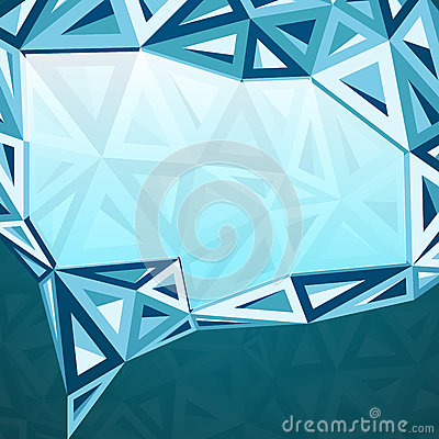 Abstract triangles idea bubble
