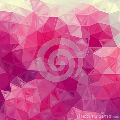 Abstract triangles vintage vector pink background