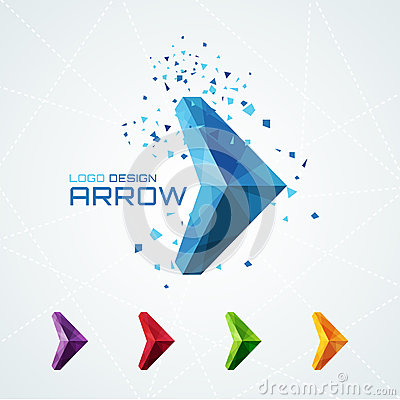 Free Abstract Triangular Arrow Logo Stock Photography - 50930662