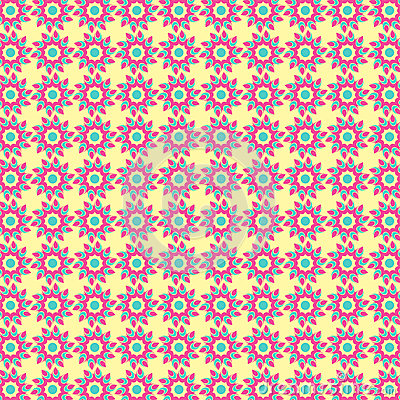 Abstract Tribal Flower Pattern