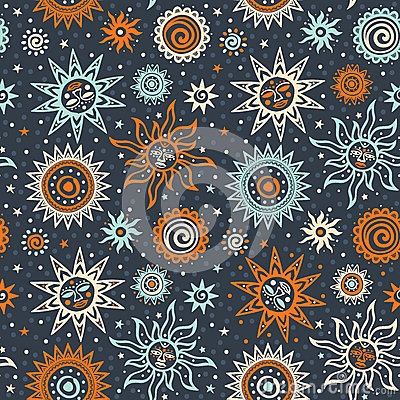 Abstract sun tribal pattern