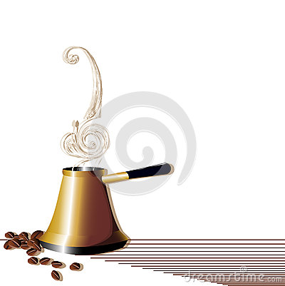Abstract turk with coffee beans